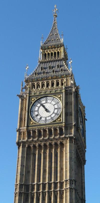 Détail du sommet de Big Ben