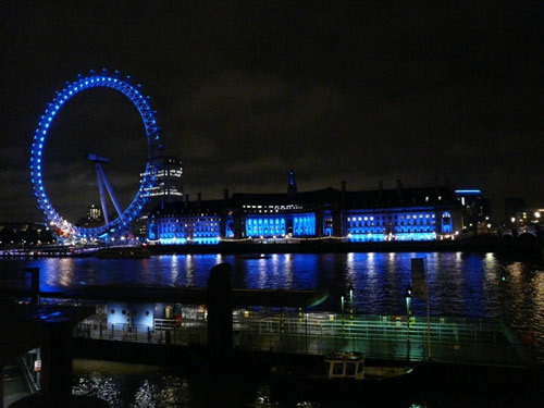 London Eye de nuit