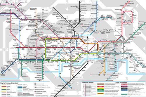 Plan du métro de Londres | PlanLondres.com