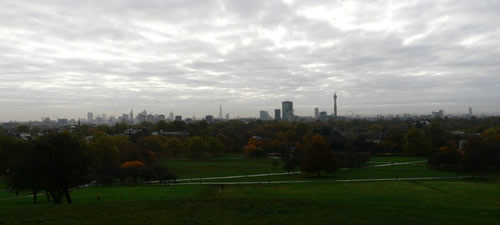Skyline Londres depuis Primrose Hill